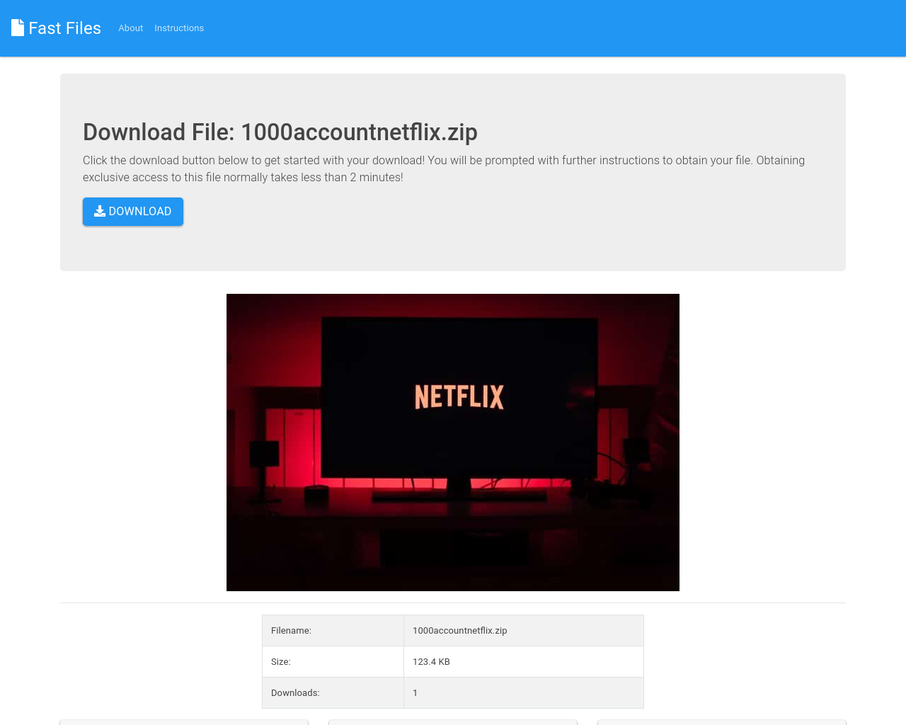 1000 account netflix